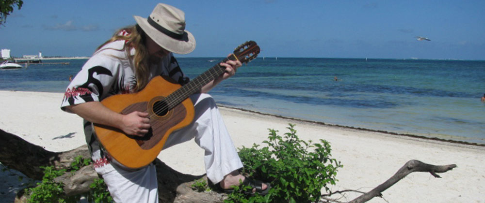 Daniel Cordero at the beach in Cancun